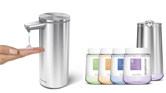 Simplehuman touchless soap dispensers
