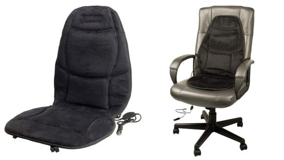 Wagan Soft Velour 12V Heated Seat Cushion