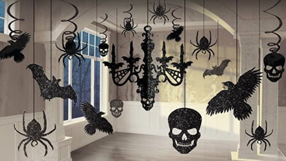 These hanging decorations are tough enough to last through many Halloweens.