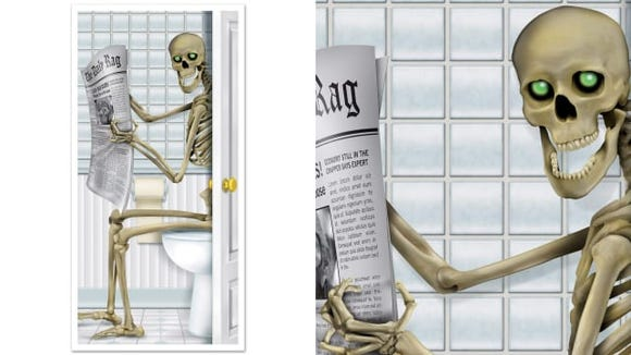Beistle Skeleton Restroom Door Cover