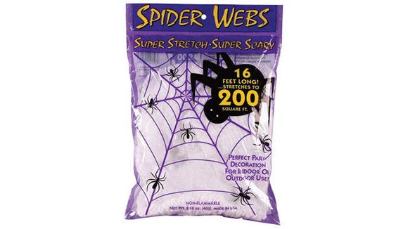 No Halloween is complete without these stretchy spiderwebs.