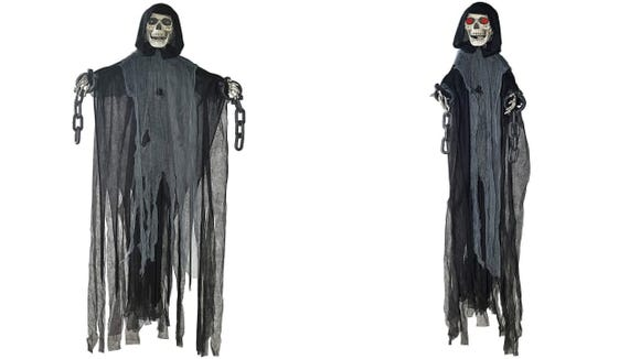 Prextex 5 Ft. Animated Hanging Grim Reaper
