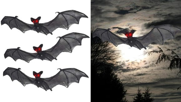 Dangle these bats from trees or porch eaves.