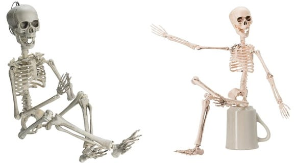 These little skeletons are cute, but might not be the best quality.