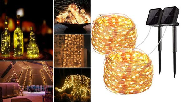 LiyuanQ Solar Powered String Light 2-Pack