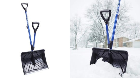 Keep shoveling easy on your back this winter.