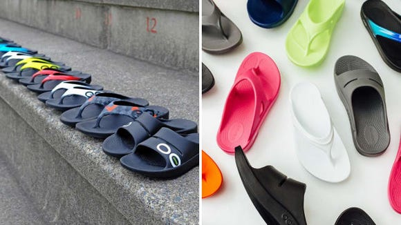 Best gifts for runners 2018 Oofos recovery sandals