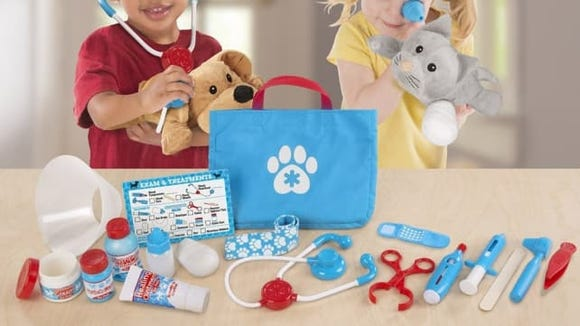 Little ones will love pretending to take care of animals.