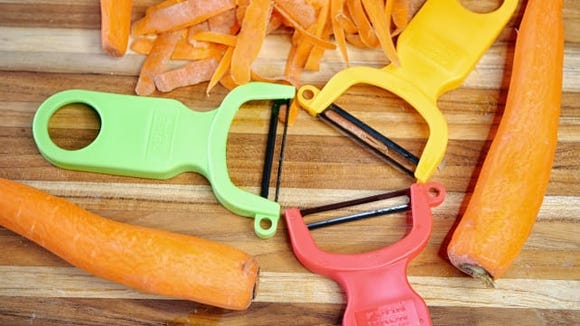 A inexpensive peeler that does the best job.