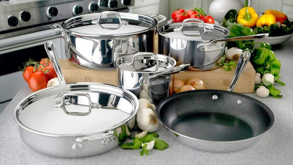 Look out for factory seconds sales for the best deals on cookware.