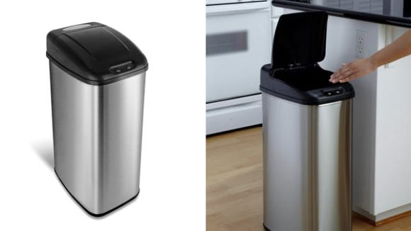 Nine Stars Touchless Stainless Steel Trash Can