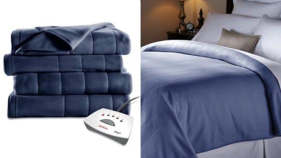 Sunbeam Electric Heated Fleece Channeled Blanket