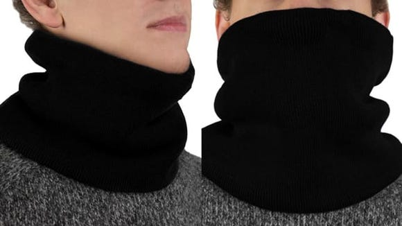 Bundle up with a fleece neck warmer before you go outside.