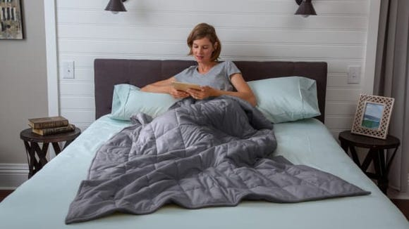 See if your sleep improves with an affordable weighted blanket.