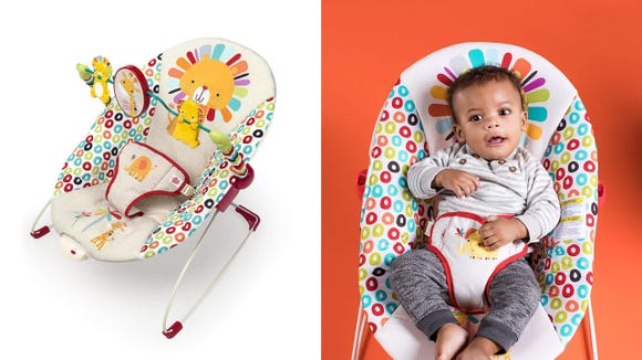 BrightStars Playful Pinwheel Bouncer