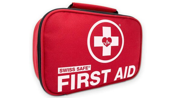 A first aid kit always comes in handy.