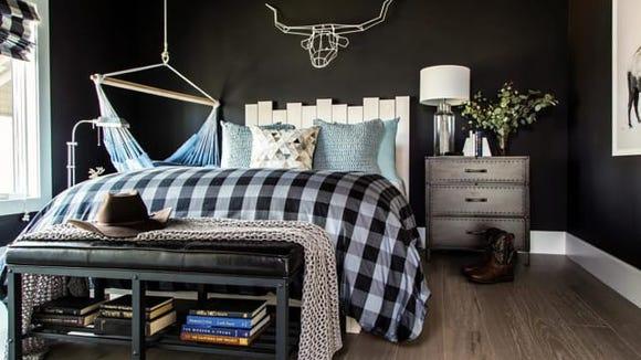 HGTV Dream Home Dark Guest Room