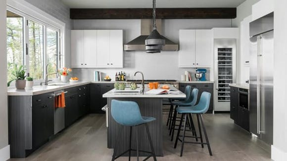 The open-concept of this kitchen makes it easy for
