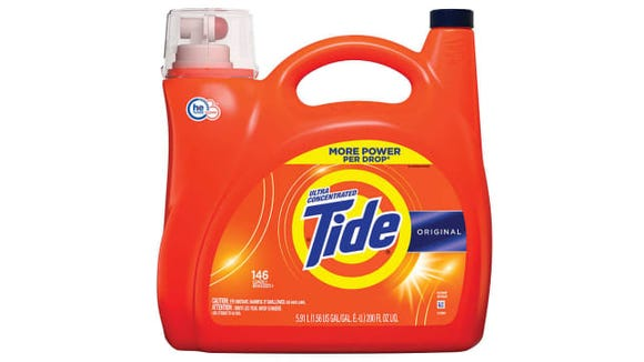 Unless you're washing a ton of clothes, its a waste to buy a ton of detergent.