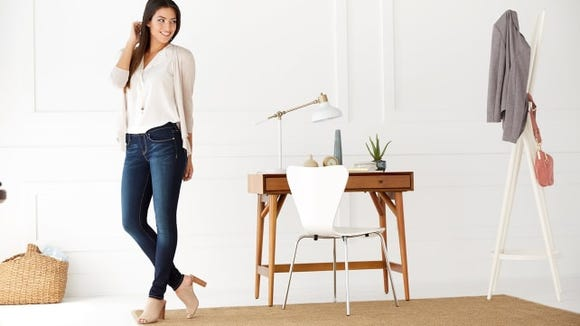 Skinny jeans with a flattering fit.
