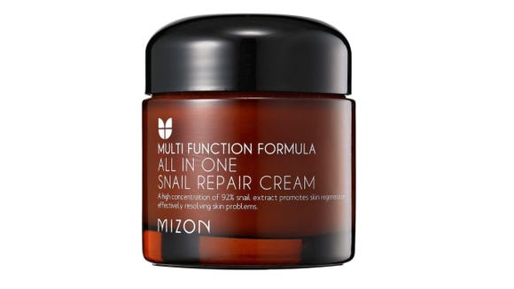 This rejuvenating cream is made from actual snail extract.