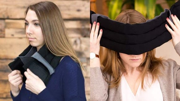 Relieve headaches with this wearable ice pack.
