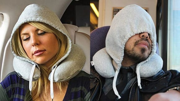 This inflatable travel pillow is so comfy to travel with.
