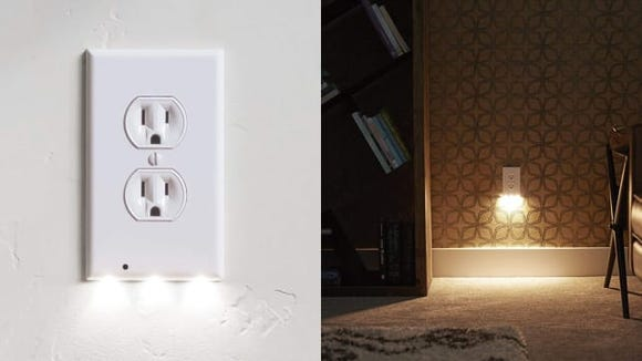 This outlet cover also works as a night light.