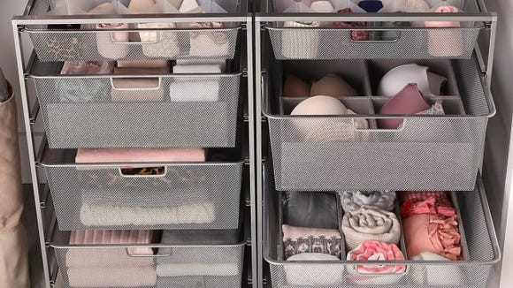 Mesh storage drawers