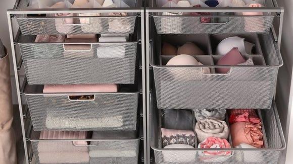Mesh storage drawers