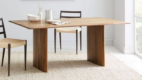 Timeless dining pieces can be found at West Elm.