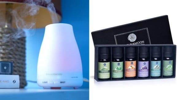 InnoGear Aromatherapy Diffuser and Lagunamoon Essential OIls