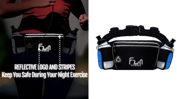 The Fun Fitness H20 belt lets you stay organized and hydrated while working out.