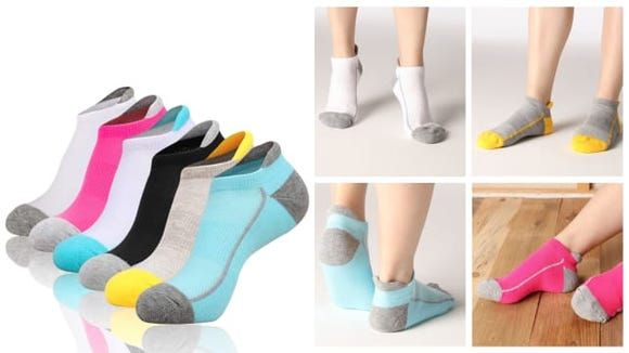Nothing is worse than having ratty gyn socks, so solve it with this affordable 5-pack of athletic socks.