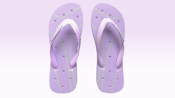 Shower Shoez' cheap flip flops are perfect for when you need to use a community shower.