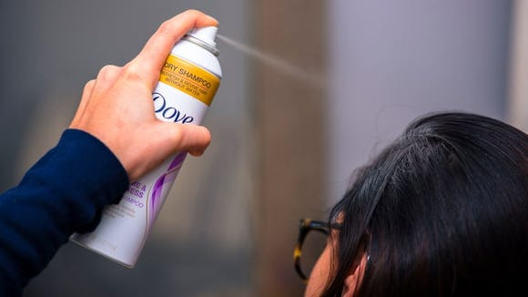 The Dove Refresh + Care dry shampoo gives excellent results in a can that makes application a breeze.