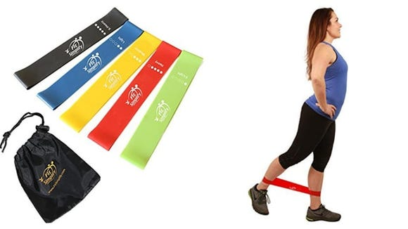 Resistance bands are a perfect way to fit in a challenging workout just about anywhere.
