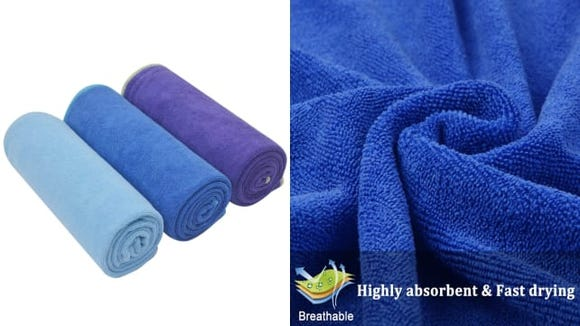 Sinland Microfiber Towels are soft, absorbent, and affordable—just what we all need in a towel.