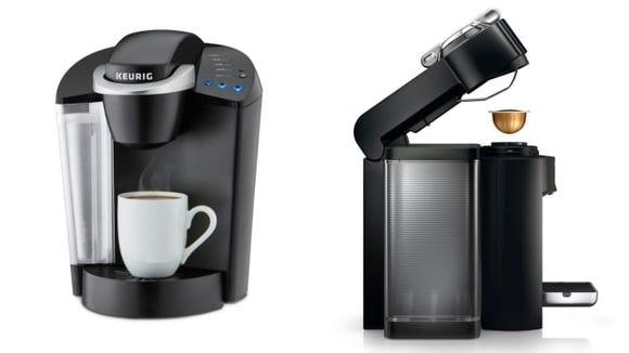 Keurig and Nespresso Pod coffee makers
