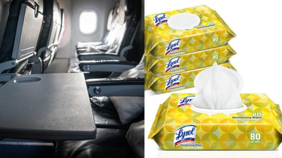 A travel pack of disinfecting wipes to keep my seat germ-free