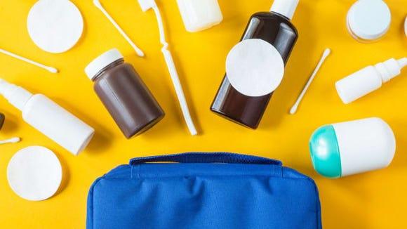 Carrying a toiletry bag helps me with unexpected travel situations.