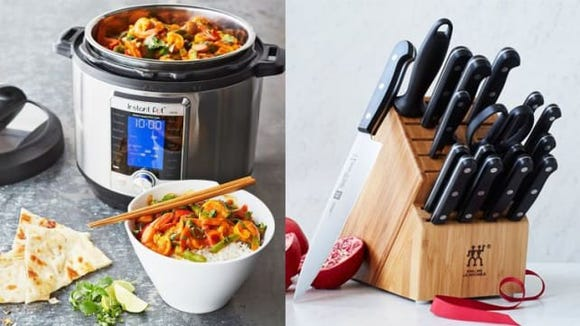 Instant Pots and kitchen knives were among the things bought at Sur La Table's sale.