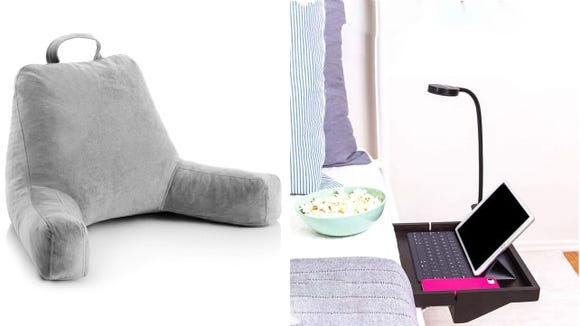 Best gifts for high school grads 2019: BedShelfie and Linenspa Reading Pillow