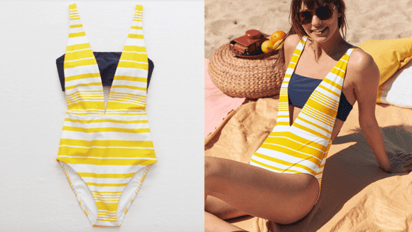 Aerie Layered One-Piece Swimsuit