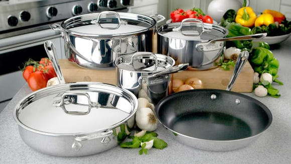 The boxes may be damaged, but this All-Clad cookware is perfect and on sale.