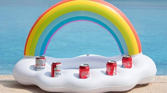 Have your own swim-up bar with this cloud float.