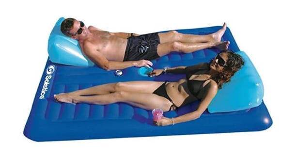 Add a romantic touch to your pool day with this float by New Shop.