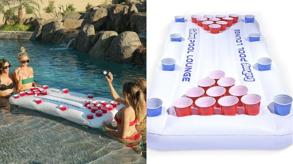 Pool parties just got way more fun with this beer pong float.