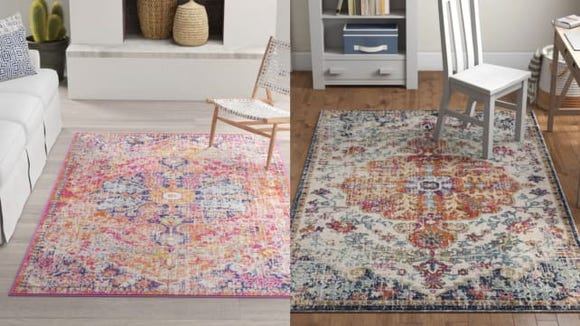 Hillsby Orange/Navy Area Rug