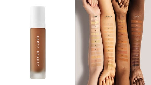 Fenty Beauty's Pro Filt'r Soft Matte Longwear Foundation has a whopping 50 shades to choose from.